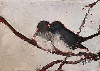Two Juncos by Susan Scott Kenney for web