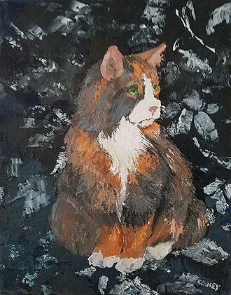 Calico Cat-Susan Scott Kenney-Acrylic-$1