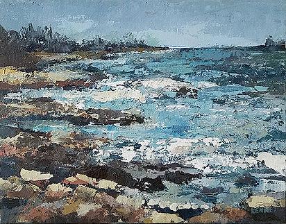 Maine Shoreline-Susan Scott Kenney-Acrylic-$175-FIRST PRIZE.jpg