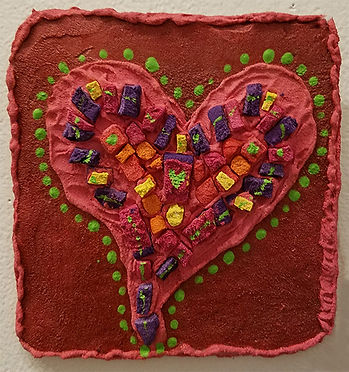 Red Heart Love-Deb Aldo-Mosaic Assemblag