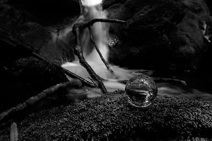 Ayers Gap Waterfall B&W $135.jpg