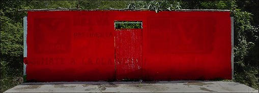 Red Wall, Valladolid Mexico-Susan Parish