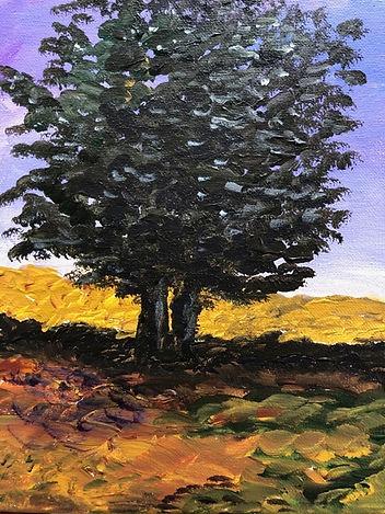 8x10 $35 acrylic on canvas Dusk Linden.j
