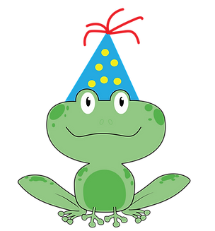 sitting frog BDAY hat.png