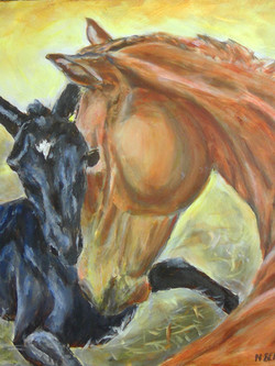 Mare and Foal Oils PRIVATE COLLECTION