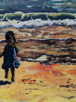 Amelia on Beach Acrylics PRIVATE COLLECTION