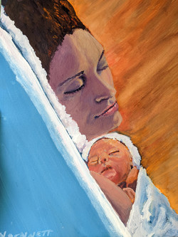 Gabby and Son Gouache PRIVATE COLLECTION