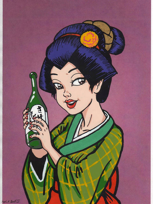 Working Sake Girl