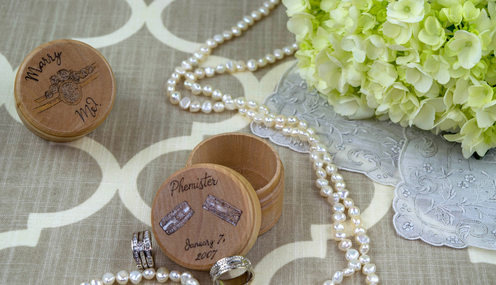 Custom Engagement and Wedding Ring Boxes