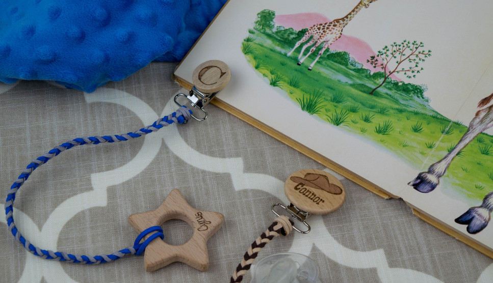 Pacifier Clips and Teether