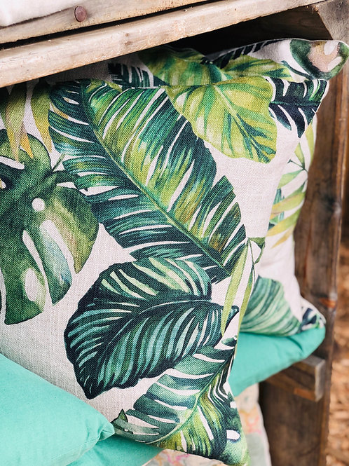 Green Leaf Cushion Cover