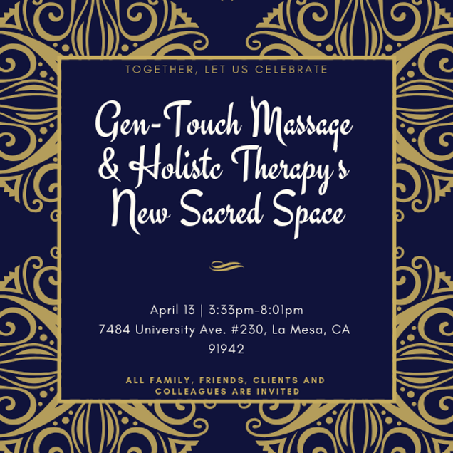 New Sacred Space Celebration THIS Saturday, April 13th!