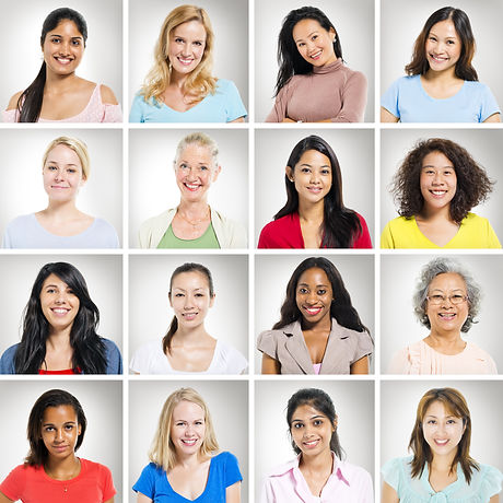 Portraits of Multi-Ethnic Women