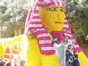 Les chars de fleurs naturelles au carnaval de la ville