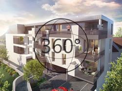 La perspective 3D de la résidence
