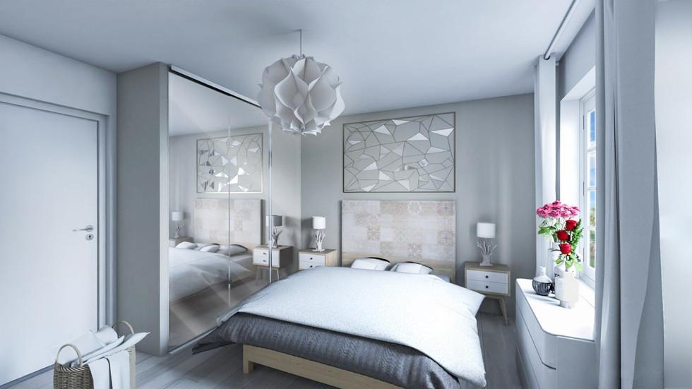 La vue 3D d'une chambre