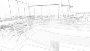 Des visuels 3D de détail, avec un style graphique de conception croquis noir et blanc