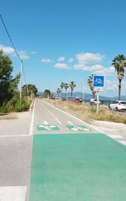 Départ à la piste cyclable de Hyères les palmiers,  cp 83400