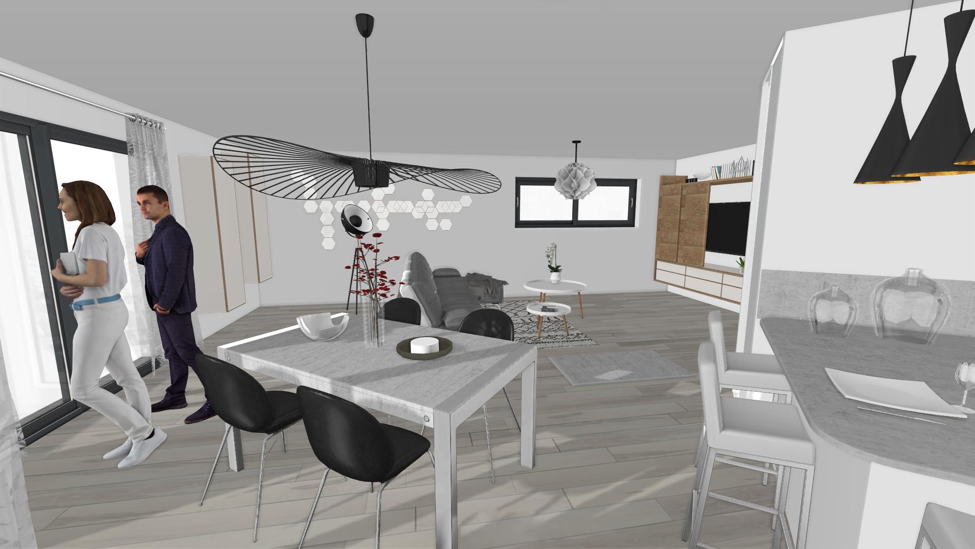 Un agencement intérieur en 3D