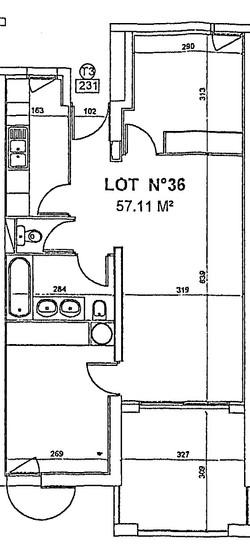 Le plan 2d de l'appartement
