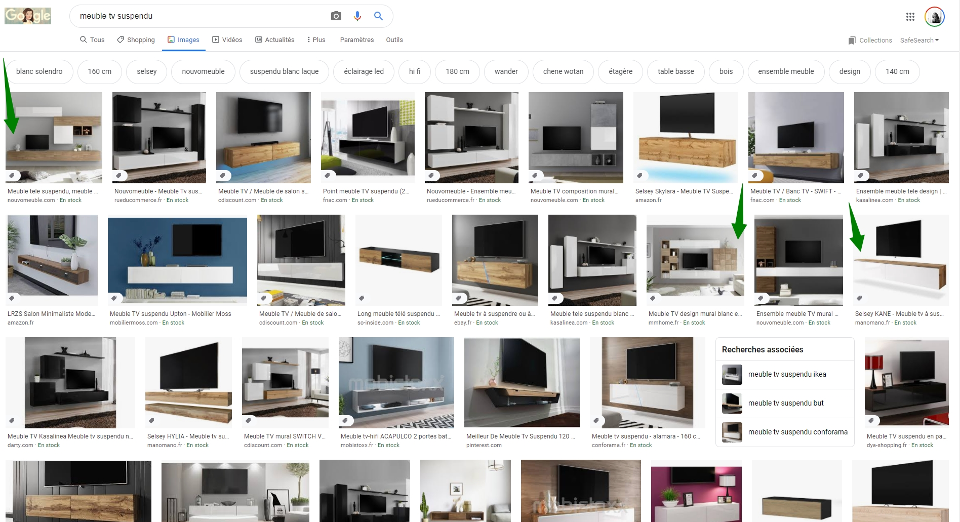 Un meuble TV suspendu pour le salon