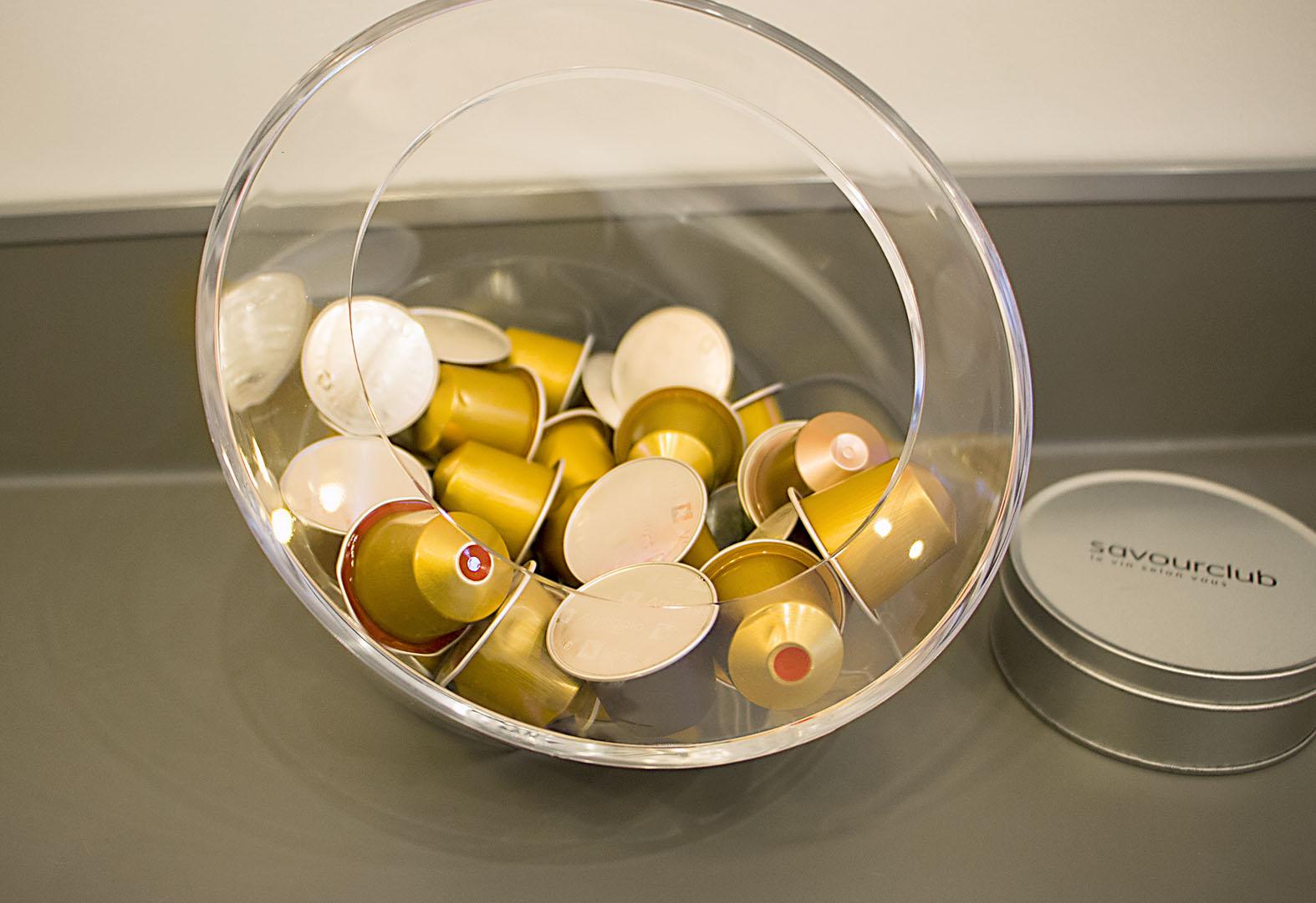 Vue de détail, capsules café