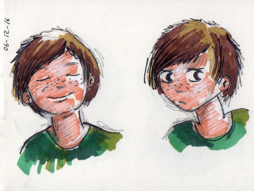 Un dessin de visage
