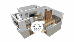 Une maquette 3D à 360°