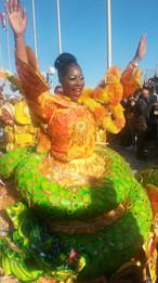 Danseuse au carnaval de Menton
