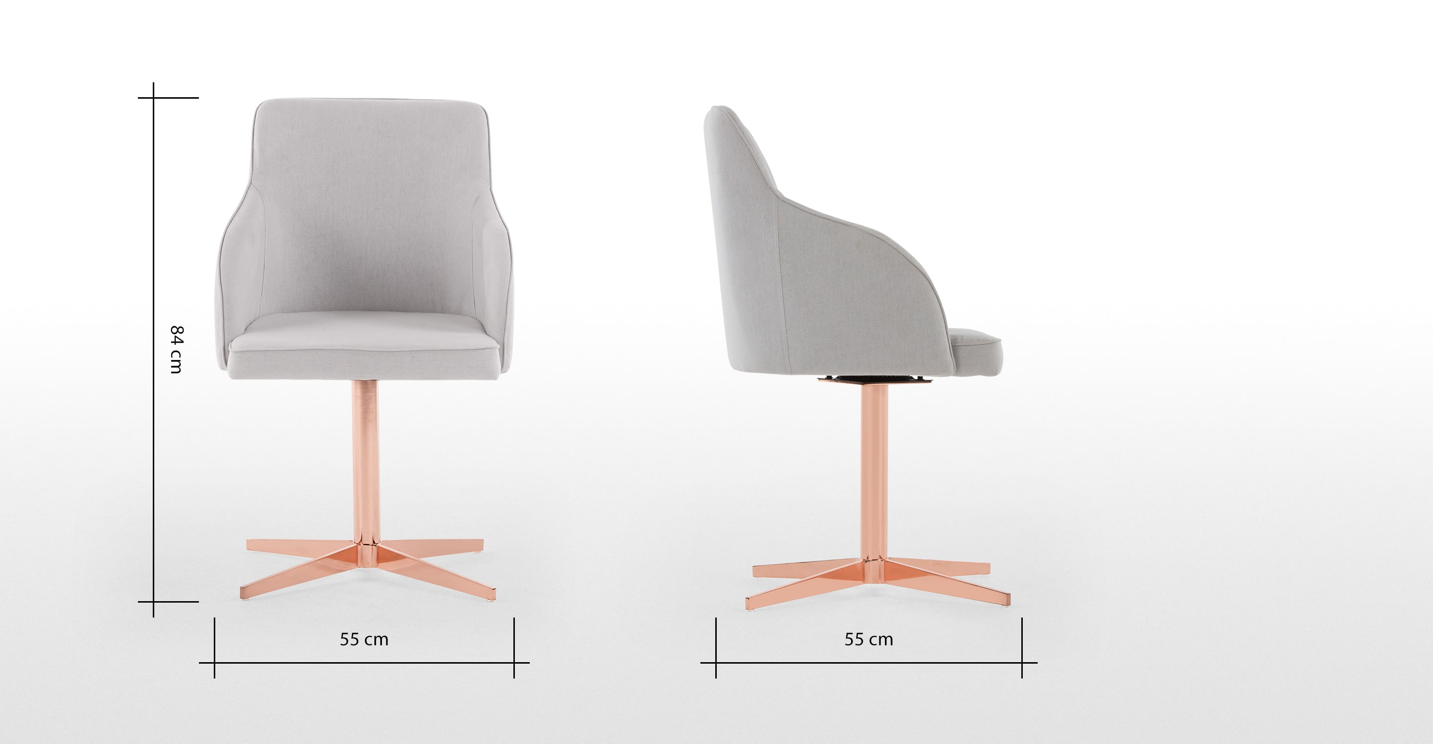 Pieds de fauteuil en cuivre