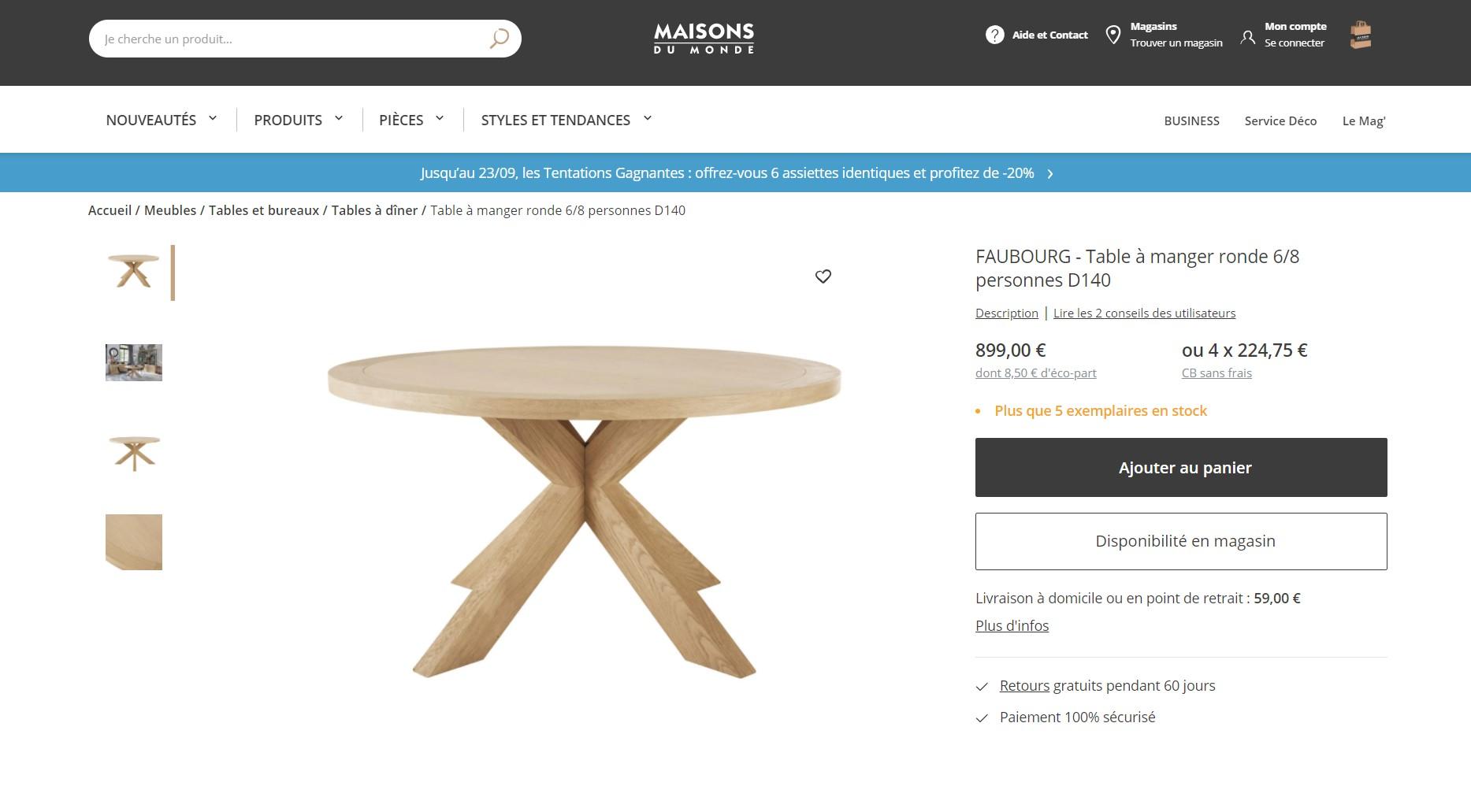 Une table avec rallonge en bois