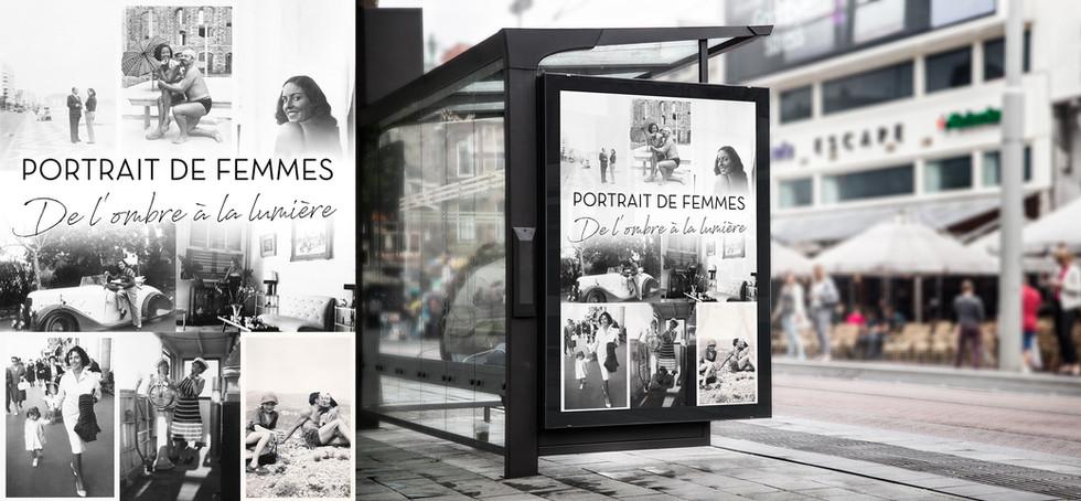 Affiche exposition portraits de femmes