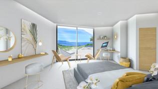 Une perspective 3D panoramique dans les chambres