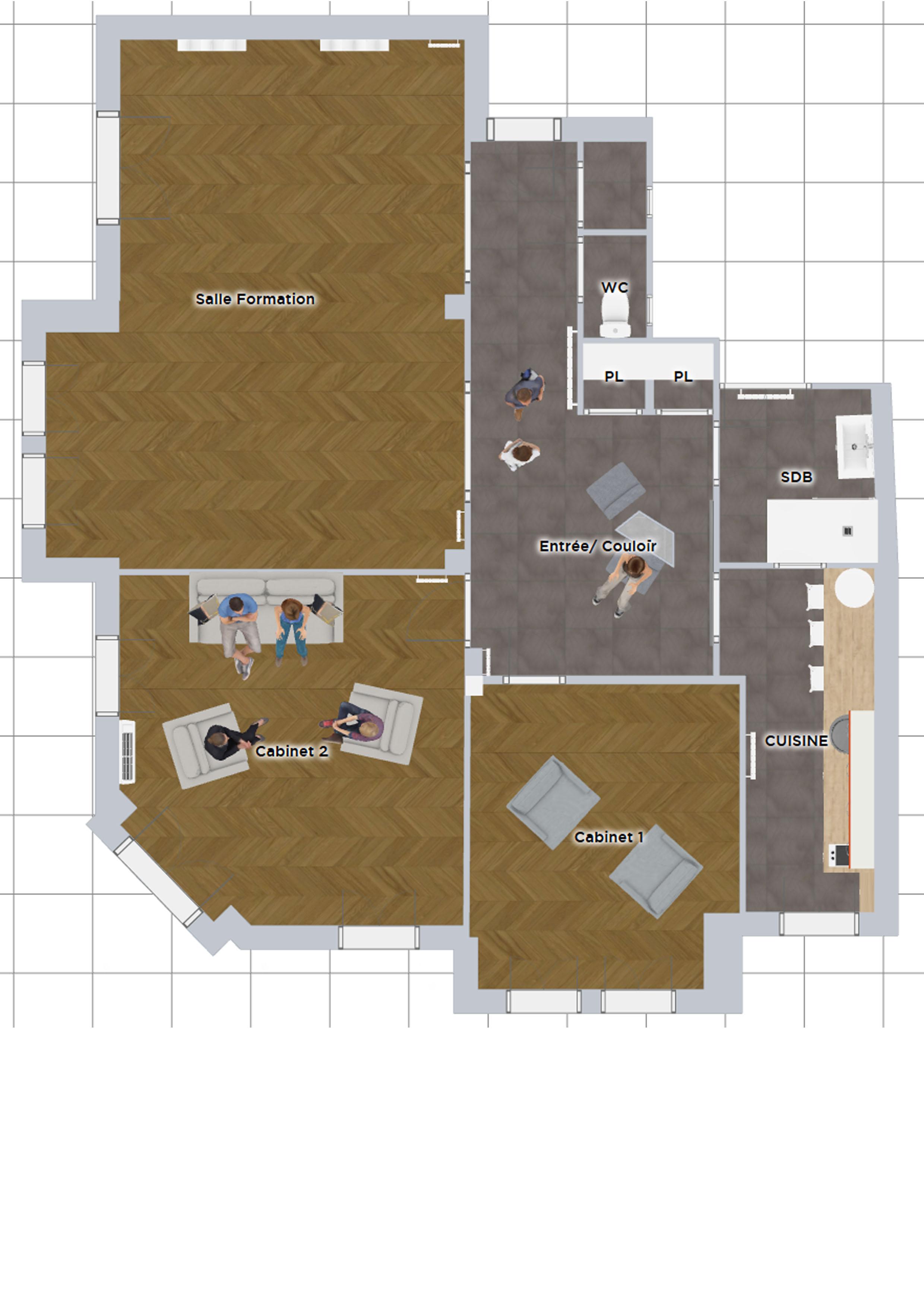 Plan 2D réaménagement intérieur