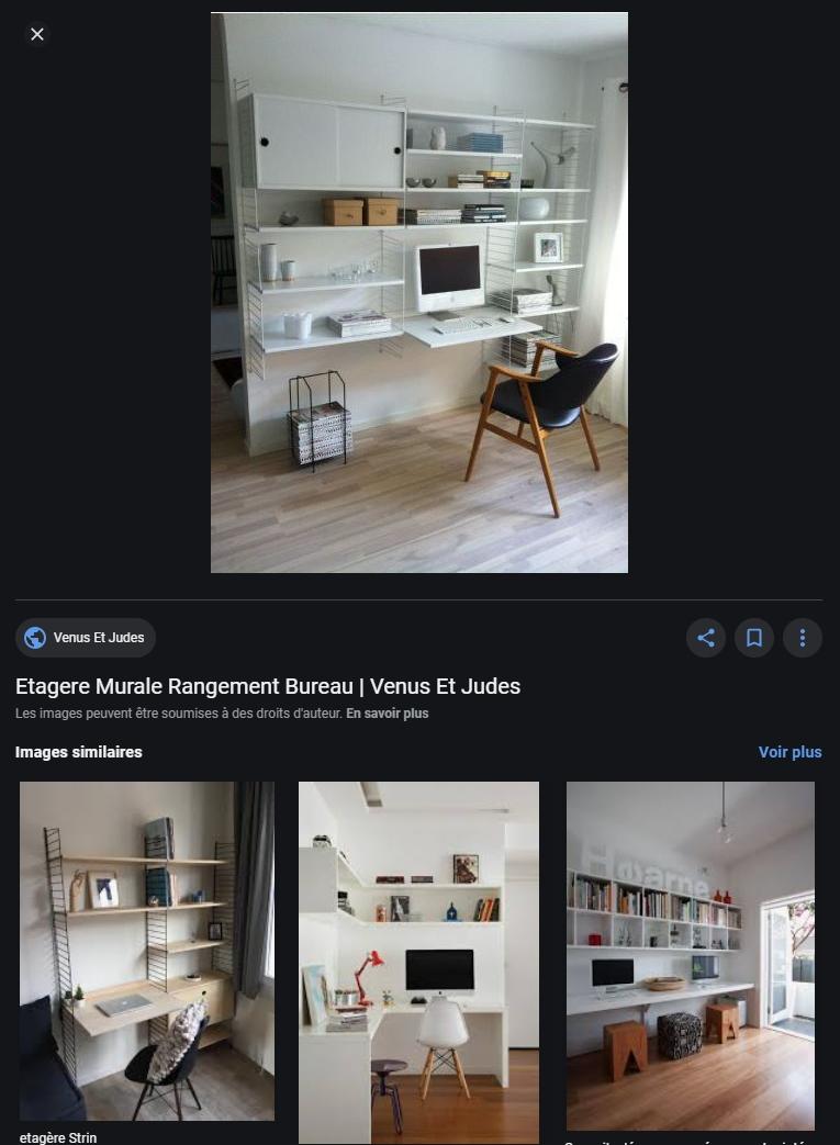 Un exemple à ne pas appliquer: Les étagères de bureau
