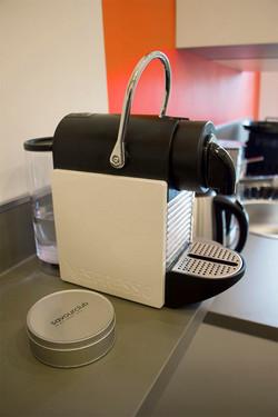 Vue de détail, machine à café