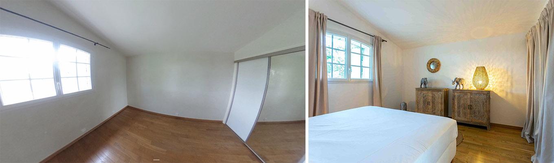 Une chambre transformée avant, après
