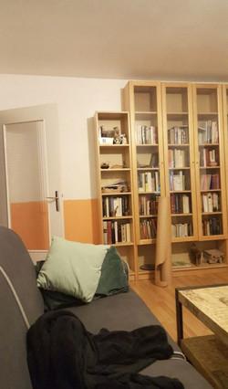 Les étagères du meuble bibliothèque modulable