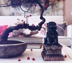 Une décoration aux notes asiatiques