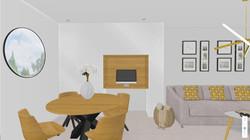 Vue salle à manger/ Rangement et bureau
