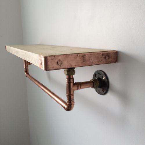 Idée étagère cuivre