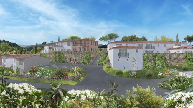 La perspective 3D d'une résidence et son environement