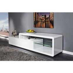 Un meuble TV blanc