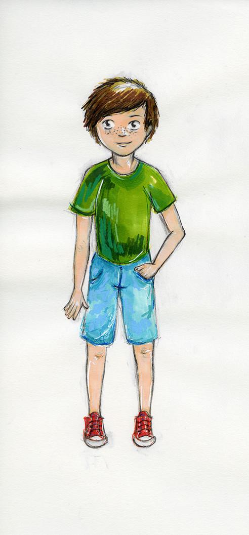 Le personnage de léon illustré