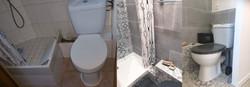 Un espace douche, WC repensé