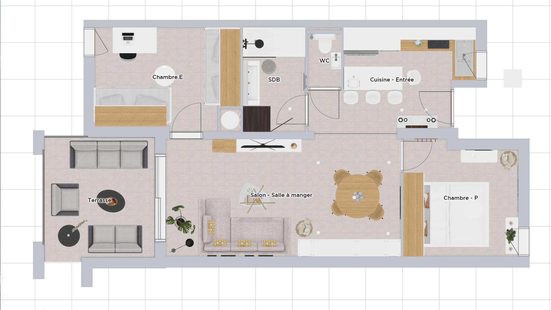 Plan 2D réaménagement