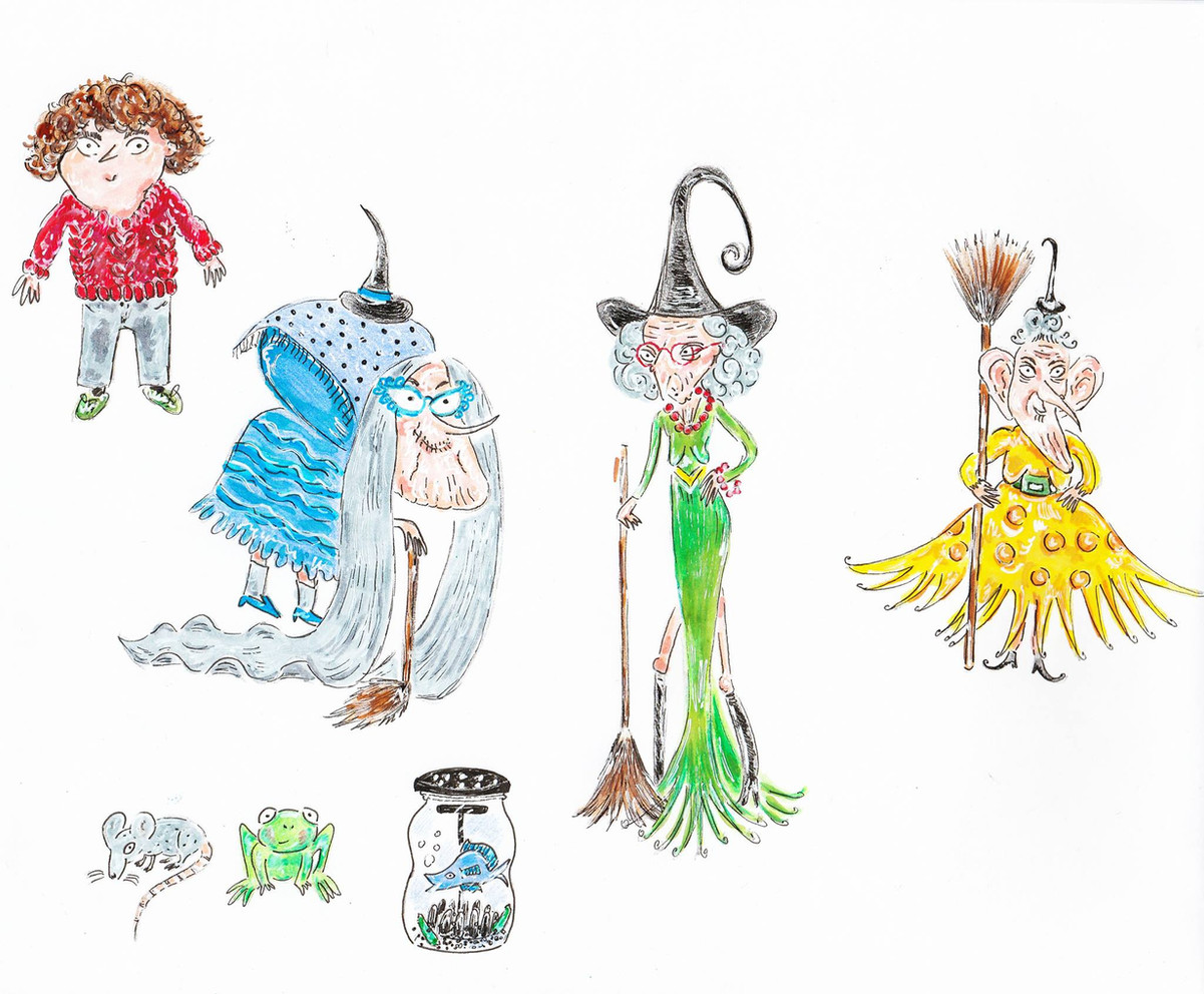 Des personnages en illustration