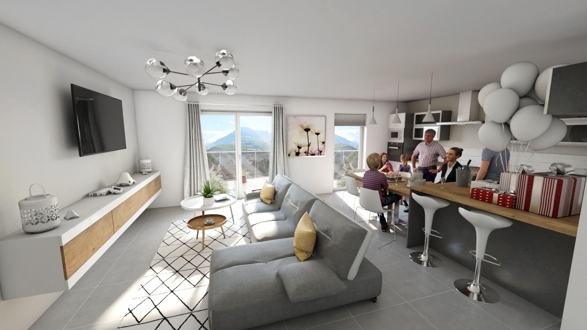 L'image 3D réaliste d'un logement