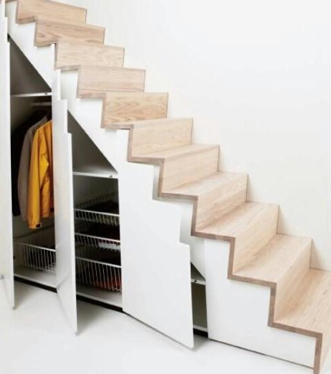 Rangement escalier, décoration