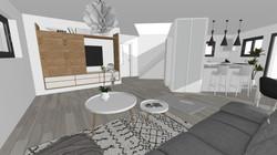 Une architecture d'intérieur en 3D
